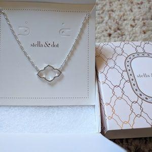 Pave arabesque pendant necklace